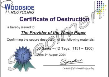 Sample of Certificate